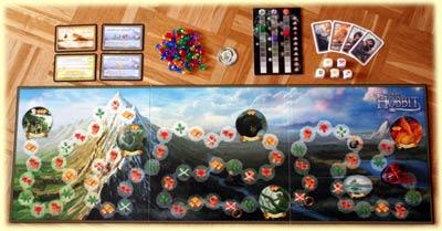 Spielplan und Material (c)2012 Jost aus Soest